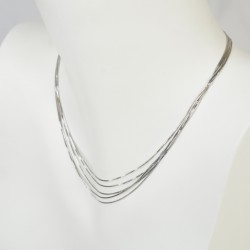 MULTIWIRE NECKLACE SILVER