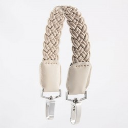 CREAM SHORT PLAITED STRAP