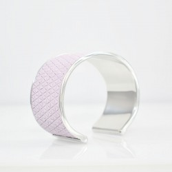 METAL LILAC LEATHER BANGLE...